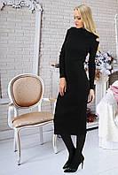 Черное платье миди длины