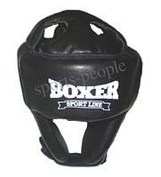 Шлем боксерский/для бокса, каратэ, BOXER, кожа, разн. цвета, L