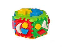 Развивающий куб сортер умный малыш Гиппо