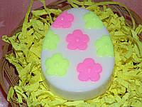 Мыло пасхальное яйцо с цветами