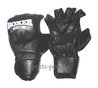 Перчатки (иригуми) для рукопашного боя, BOXER, кожа, размеры: M, L, XL, черные.