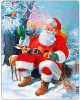 Рамки-вкладыши ' Дед Мороз в лесу, серия Макси ' Larsen JUL7