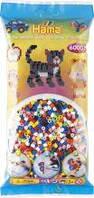 Бусины для термомозаики Hama, 6000шт в пакете, 10 цветов ( Hama 205-00 )