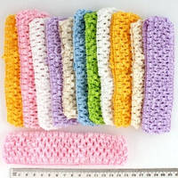 Повязка для волос ажурная цветная, ширина 4 см, упаковка 12 шт.