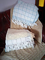Махровое турецкое полотенце для крещения Клетка