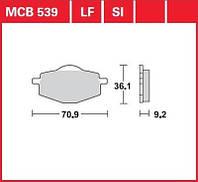 Yamaha тормозные колодки TRW / Lucas MCB539