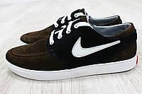 Кроссовки - мокасины замшевые Nike коричневые