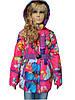 Нарядная курточка в расцветках с капюшоном