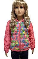 Куртка для девочки в цветы, фото 1