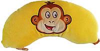 ПОДУШКА ПОДГОЛОВНИК  Банан с обезьянкой