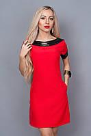 Красивое эфэктное однотонное платье