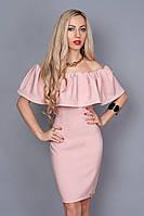 Вечернее платье приталенное пастельного цвета