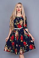 Обалденное платье в цветочный принт