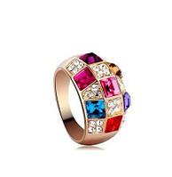 Кольцо ювелирный сплав с кристаллами р17 код 930