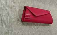 Женский клатч красный стильный, каркасный
