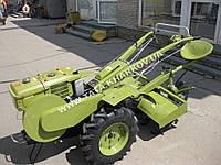 Мотоблок Витязь 1GZ-90 (дизель, 10 л.с., ВОМ, колеса 6.00-12, 4+2 скорости, фреза+плуг)
