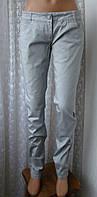 Джинсы женские модные узкие серебристые бренд Popstars р.42-44 5979