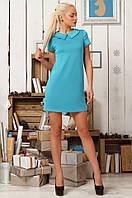 Классическое платье с коротким рукавом и воротником