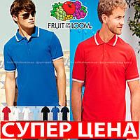 Мужская футболка рубашка поло премиум с полосками 63-032-0