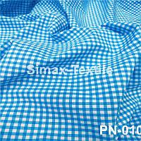 Ткань Рубашечная, рубашка, ткань на рубашку(Голубой+Белый)