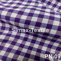 Ткань Рубашечная, рубашка, ткань на рубашку(Фиолетовый+Белый)