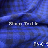 Ткань Рубашечная, рубашка, ткань на рубашку(Синий+Черный)