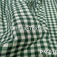 Ткань Рубашечная, рубашка, ткань на рубашку(Темно-Зеленый+Белый)