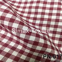 Ткань Рубашечная, рубашка, ткань на рубашку(Темно-Красный+Белый)