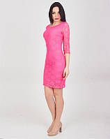 Коктейльное гипюровое платье