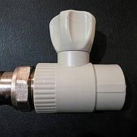 Кран радиаторный 20 прямой шаровый полипропиленовый.