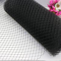 Вуаль шляпная, черный (50 см)