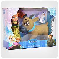 Кукла «Холодное сердце» - Анна + фигурки оленя и снеговика