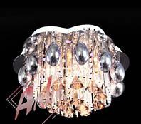 Люстра на 6 лампочек с подсветкой и пультом управления для зала, спальни
