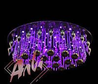 Люстра на 8 лампочек с подсветкой и пультом управления для зала, спальни
