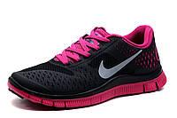 Кроссовки Nike Free Run 4.0 женские/подростковые, черный, р. 38 39