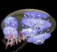 Люстра 4 ламповая с подсветкой и пультом управления для зала, спальни