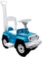 Каталка-толокар Wrangler Jeep с родительской ручкой