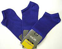 Короткие тонкие мужские синие носки