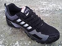 Кроссовки черные мужские Bayota - Adidas сетка 40 -45 р-р