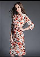 Платье миди с цветами