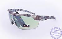 Тактические брендовые очки-маска Oakley - Хаки - 7931