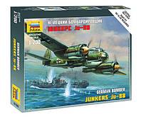 """Сборная модель Zvezda (1:200) Немецкий самолёт """"Юнкерс"""" Ju-88A4"""