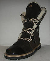 Ботинки - полусапоги зимние стильные замшевые