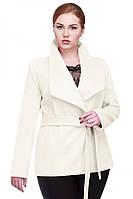 Женское демисезонное короткое кашемировое пальто Эльвира