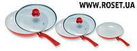 Набор из 3-х сковород с керамическим антипригарным покрытием ― Biolux Kerama Ceramicore-3pcs.