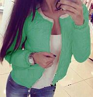 Куртка женская на синтепоне Бусины мятная, одежда дропшиппинг