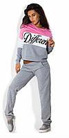 Спортивный костюм Different серый с розовым , купить костюм