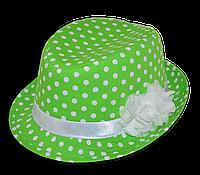Шляпа челентанка детская с цветами