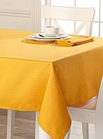 Скатерть для стола 140х140см, однотонная Жёлтый