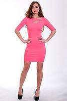 Оригинальное облегающее платье розового цвета, фото 1